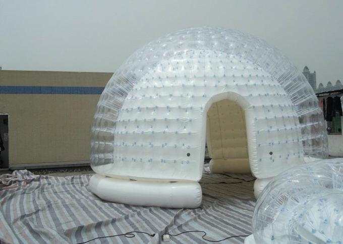 Semi Transparent Inflatable Bubble Tent / Yard Tent with white PVC tarpaulin & Transparent Inflatable Bubble Tent / Yard Tent with white PVC ...