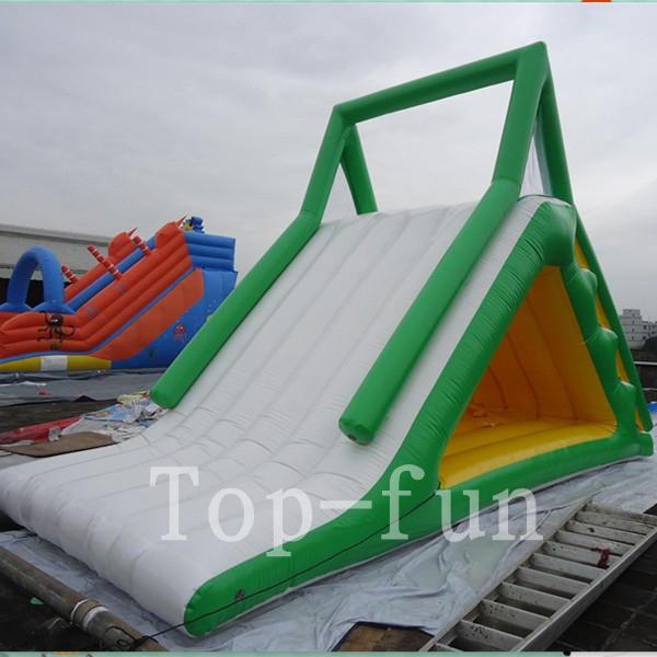 Durable Pvc Children Inflatable Water Slide Iceberg For Ocean Or Swimming Pool