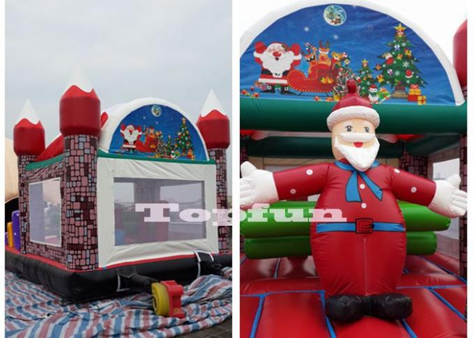 Merry christmas inflatable santa claus bouncy castle for