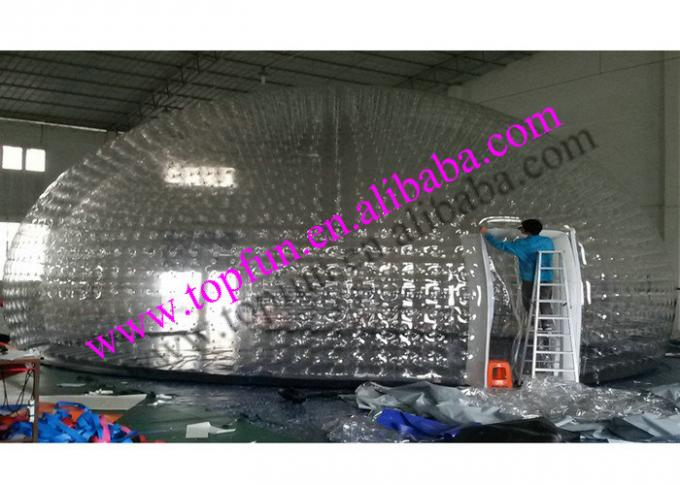 12m Pvc Inflatable Clear Bubble Tent Water Proof Airtight Dome