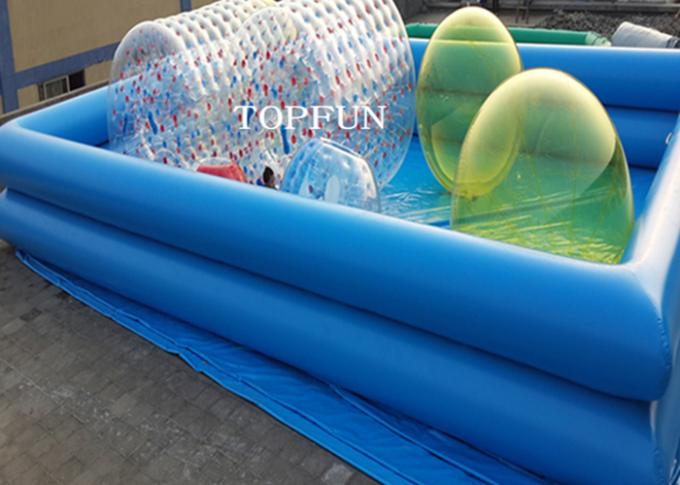 Custom Double Pipes Funny Inflatable Swimming Pool Water Walking Ball Roller