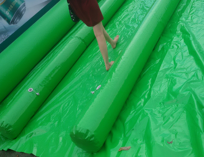 Custom 1200m Inflatable Slip N Slide PVC Tarpaulin Four Lanes Inflatable Slip Slide