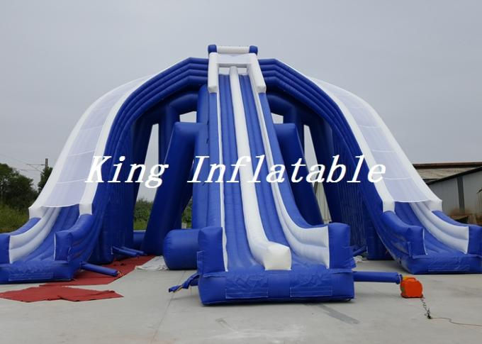 15m High Outdoor Giant Inflatable Water Slide For Sale / Trippo Slide