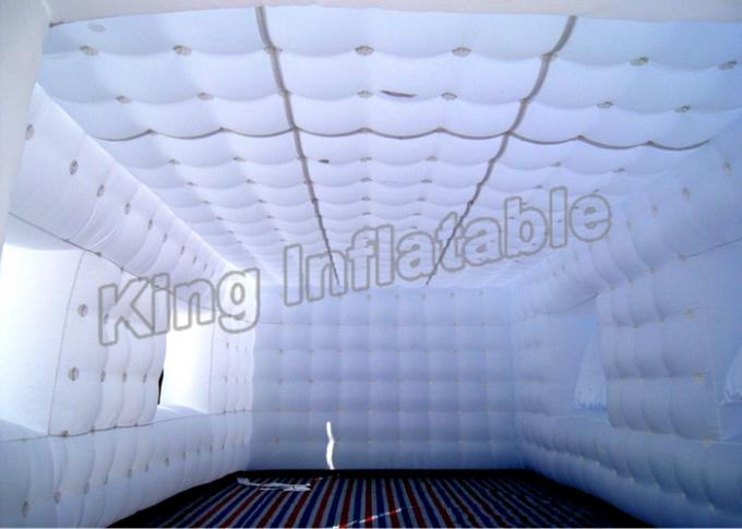 Waterproof  Sewn White PVC Inflatable Event Tent Fast Inflated For Activity