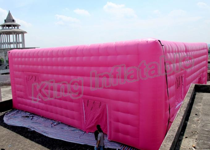 Double Layer Inflatable Event Tent Wedding Cube Tent With White Or Pink Color