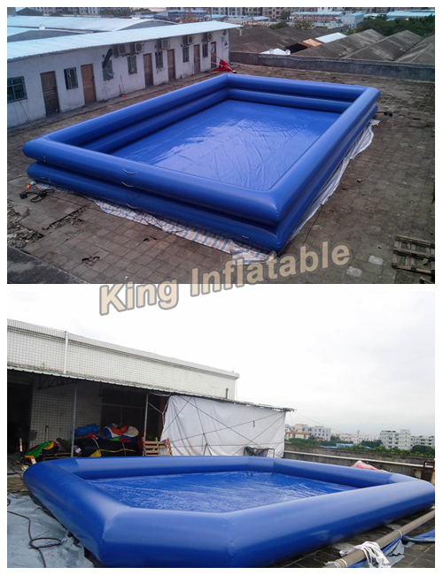 Yellow inflatable swimming pool in polygonal rectangle Square swimming pools for sale