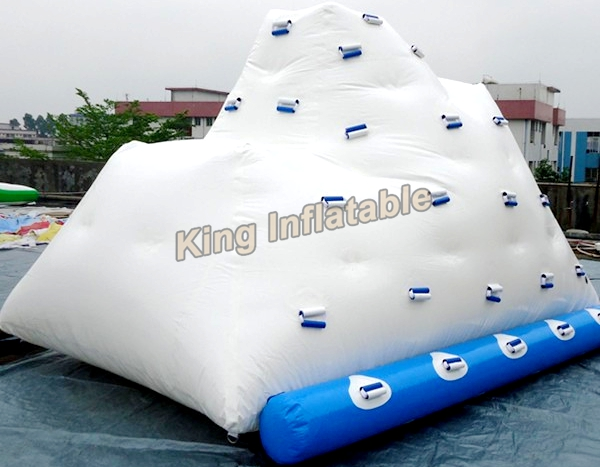 Pvc White Inflatable Water Iceberg Blow Up Water Sports