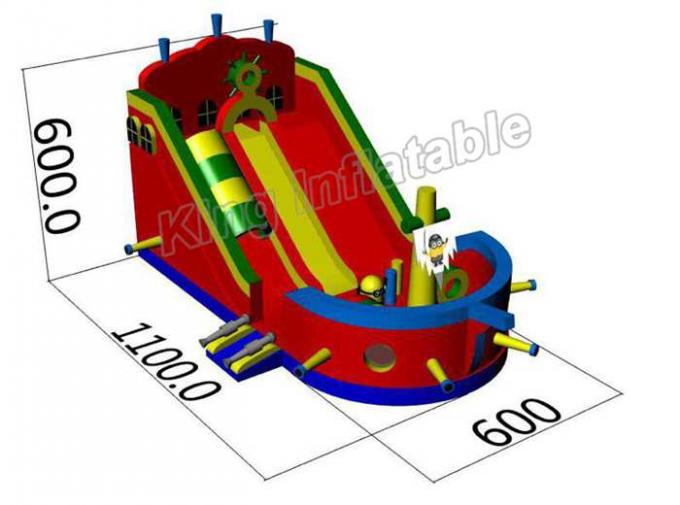 Kid Toy Inflatable Pirate Ship Bouncer Castle With Slide And Climb