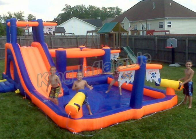 Custom Outdoor PVC Inflatable Water Slide Spray Pirate ...