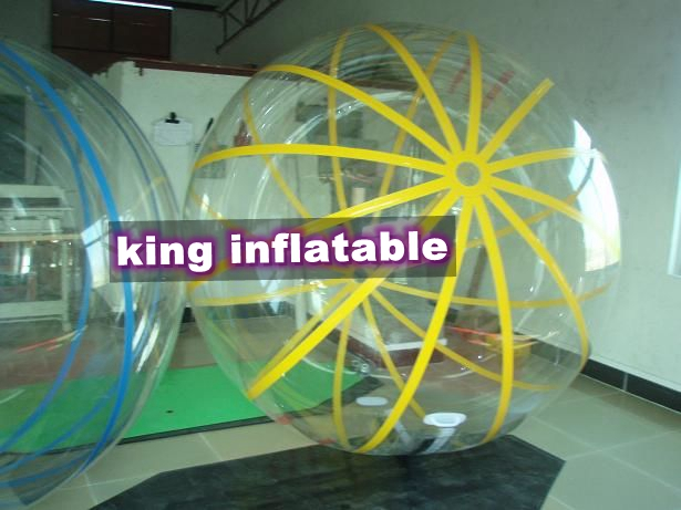 1.0mm thick pvc or transparent TPU Stong Inflatable Walk On Water Ball
