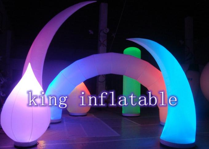 Large Helium Inflatable Advertising Balloons / LED Lighting Balloon For Outdoor Trade Show