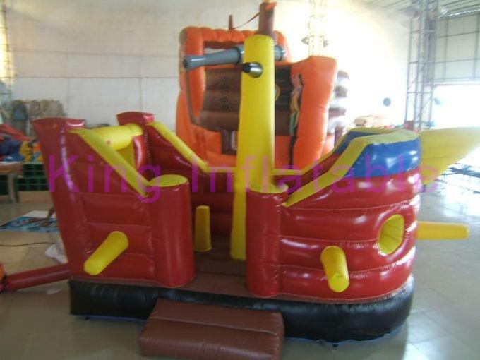Colorful CE Inflatable Forest Shuttle Bus Dry Slide 0.55mm Plato PVC For Children
