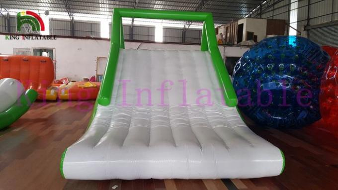 Green White 0 9mm Pvc Tarpaulin Blow Up Water Toy