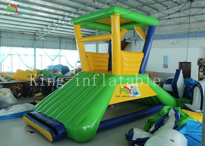 0.9 Mm PVC Tarpaulin Inflatable Water Parks / Aqua Water Obstacle Course For Adult