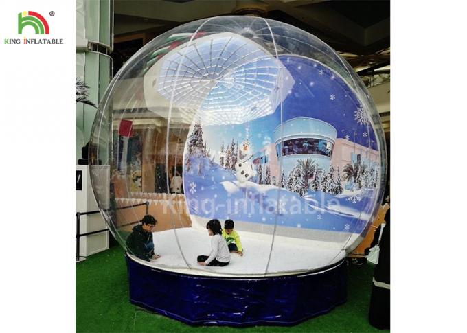 Human Size Inflatable Snow Ball Clear 0.8 mm PVC  Globe Photo Taking EN14960