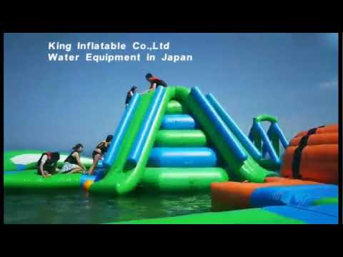 Durable 0.9mm PVC Tarpaulin Inflatable Floating Water Park For Adult & Kids