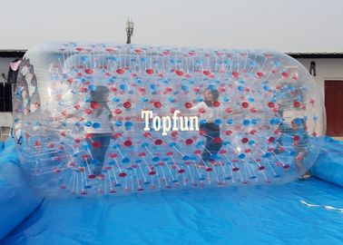 Giant Blue Swimming Pool Toys Inflatable Water Roller For Adults N Children