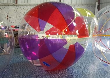 1mm Red Purple Yellow PVC Inflatable Walk On Water Ball in Transparent