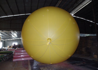Yellow Inflatable Advertising Balloons For Commercial Advertising  2.5m Diameter