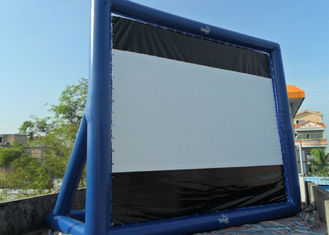 Blue Project Screen Inflatable Movie Screen For Outdoor Use