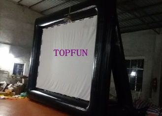 Black / White Airblown Inflatable Movie Screen With Project  5 x 4 m