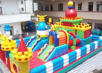 Disney Theme Inflatable Party With Climbing Rock Water Proof