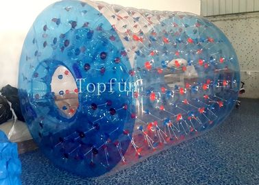 China Fantastic Design Inflatable Toys , PLATO Water Roller Ball Games Blue supplier