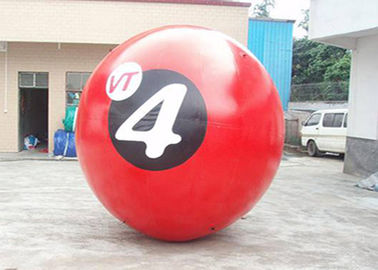 Red 0.8mm PVC Inflatable Walk On Water Ball With Printing 2m Diameter