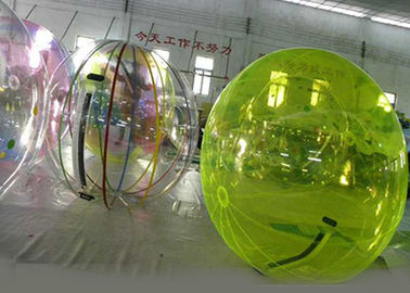 Green Water Walking Ball , Inflatable Water Ball For Amusement Park