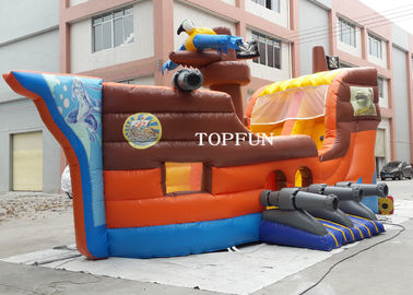 China PVC Tarpaulin Kids Fun City Inflatable Bouncy Pirate Ship For Commercial Use supplier