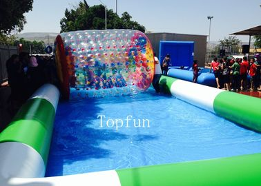 Customized Commercial Inflatable Pool / Large Inflatable Swimming Pool For Water Roller Balls