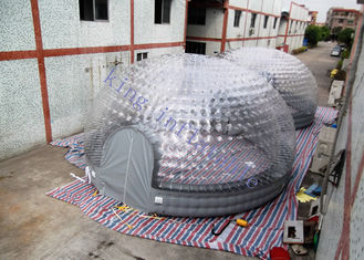 8m Diameter Combo Transparent Inflatable Dome Tent For Party / Exhibition