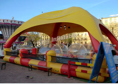 Outdoor Sports Summer Inflatable Water Pools In Rectangle Shape With Tent
