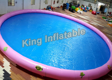 18m Diameter Round Inflatable Swimming Pools With Animal Printing , 500kg Weight