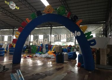 Custom Blue Oxford Durable Inflatable Arches for Event or Games Entrance
