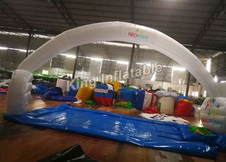 210D Nylon 10*5m White Unsealed Inflatable Arches For Event Or Advertising