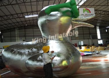 Customized Big Inflatable Duck Character Cartoon / Animal For Advertising