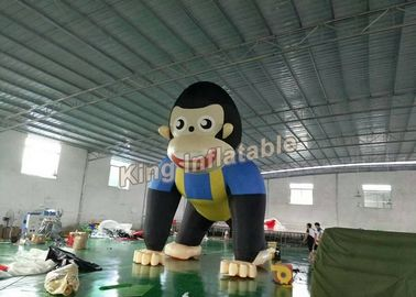 Giant 6m High Event  Inflatable Monkey / Inflatable Animal Cartoon For Advertising