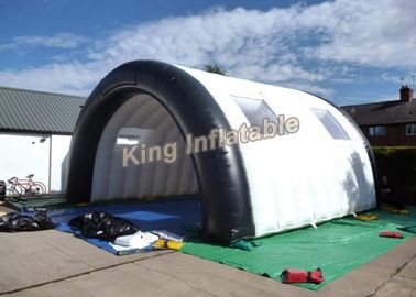 7*5m White PVC Tarpaulin Tunnel Customized for Stage Customized Inflatable Lawn Tent