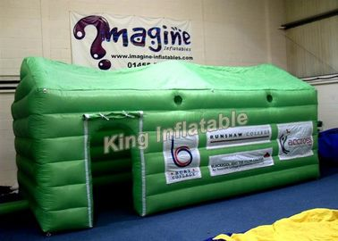 Small Green PVC Inflatable Event Tent  / Exhibition Inflatable Cube Tent