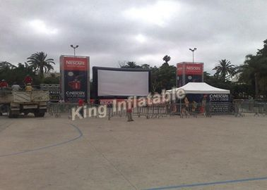 PVC Tarpaulin Outdoor Inflatable Movie Screen With Airtight System