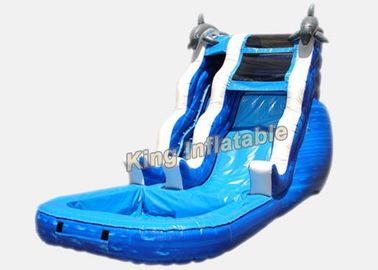 16 ft Dolphin Rush Wave Commercial Inflatable Water Slides 7 * 4 * 5m