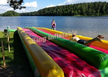 Colorful Eye-Catching Inflatable Water Slide For Children 15*3m / Inflatable Playground