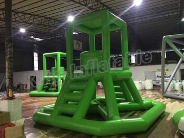 Hot Sealing Airtight Large Inflatable Water Park Games Guard Tower For Entertain