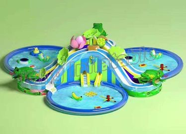 Funny Large Inflatable Water Parks , Children Floating Playgrounds EN71-2-3 Certificate
