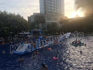 Commercial Grade Kids Blow Up Water Park , Giant Inflatable Water Sports