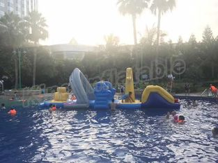 Large Floating Inflatable Aqua Park Water Games With Slide For Outdoor Entertain