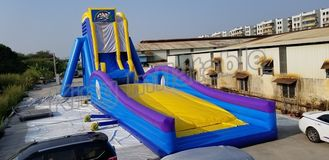 Crazing Fun Inflatable Fly Water Slide For Adults Blue And Yellow Color