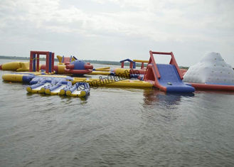 Commercial Inflatable Water Parks , Splash Water Playground Equipment