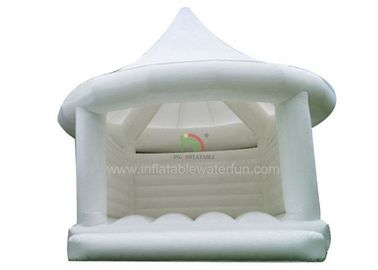 White PVC Tarpaulin Adult Princess Bouncy Castle For Wedding 1 Years Warranty